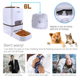 Lseebiz Automatic Pet Feeder 6L Dog Cat Feeder with Voice Recording