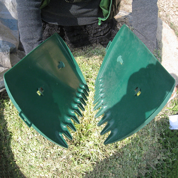 Garden Leaf Scoops Grabber 1 Pair Hand Rakes Large Sized Portable For Leaves Lawn Debris Rubbish Pick Up Tool Hand Tools