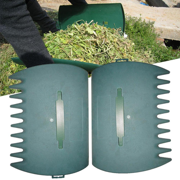 1Pair Garden Cleaning Leaf Scoop Portable Trimming Leaves Tool Rubbish Grass Lawn Yard Hand Rakes Grabber Collect Pick Up 40a