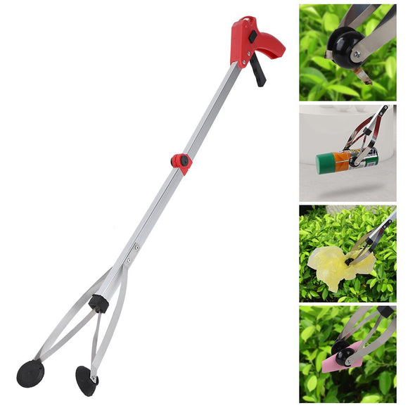 Folding Household Garbage Picker Alloy Trash Grabber Garbage Clip For Garden Leaves Waste Pick Up Tools Home Cleaning Supplies