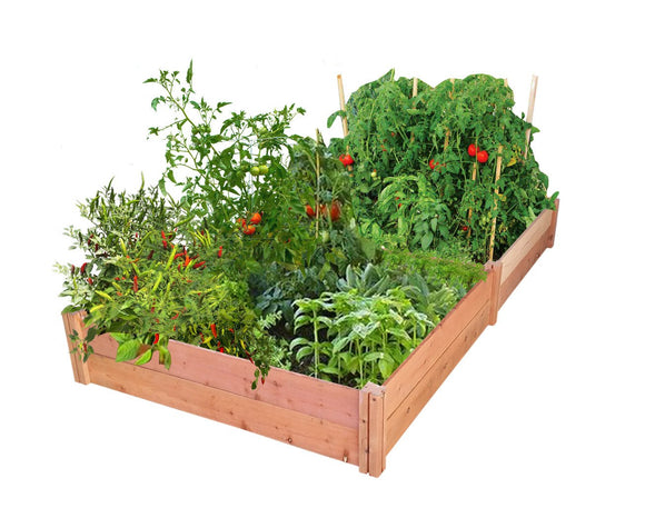 GroGardens 4' x 8' Redwood Raised Garden Bed