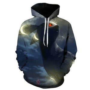 Men's Fashion Casual 3D Animal Print Pullover Hooded