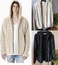 Load image into Gallery viewer, Fashion Loose Plain Floss Zipper Coat
