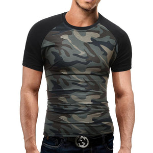 Fashion Patchwork Style Casual T-Shirts