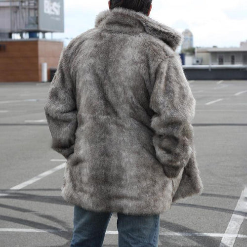 Fashion Large Lapel Hooded Loose Faux Fur Coats
