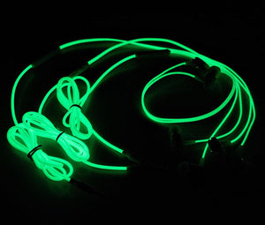 Luminous Headset 35mm Plug Wired Glowing Earphone with Mic