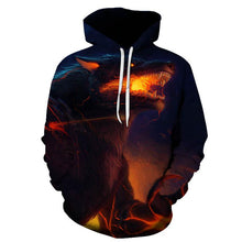 Load image into Gallery viewer, Men's Fashion Casual 3D Animal Print Pullover Hooded