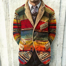 Load image into Gallery viewer, Vintage Rainbow Print Corduroy Jacket