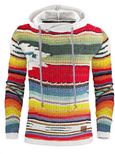 Casual Rainbow Print Sweatershirt