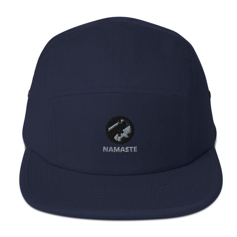 NAMASTE UNISEX D-G EMBROIDERED 5 PANEL CAMPER