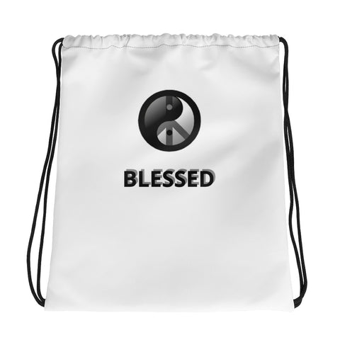 UNISEX BLESSED PRINT D-G DRAWSTRING BAG