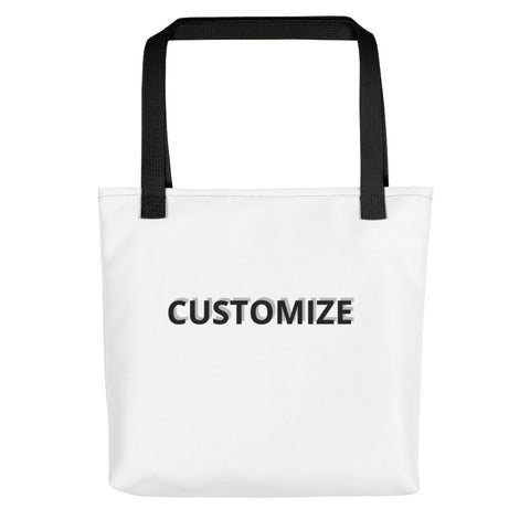 CUSTOMIZABLE UNISEX D-G PRINT TOTE BAG