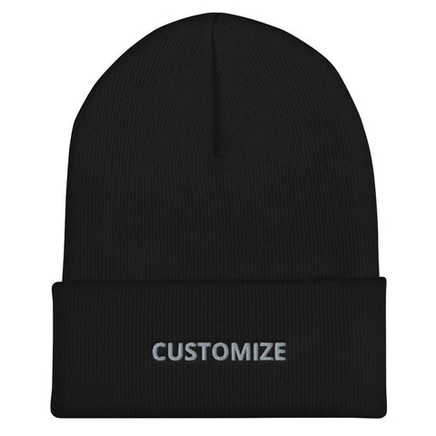 CUSTOMIZABLE D-G UNISEX CUFFED BEANIE