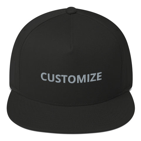 CUSTOMIZABLE EMBROIDERED UNISEX D-G FLAT BILL CAP