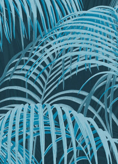 Echantillon papier peint Tropical Jungle bleu