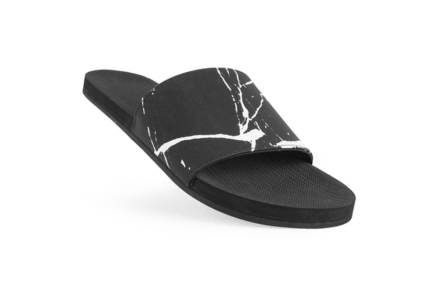 ESSNTLS Slides Texture Men - Black Marble on Black