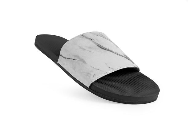 ESSNTLS Slides Texture Men - White Marble on Black