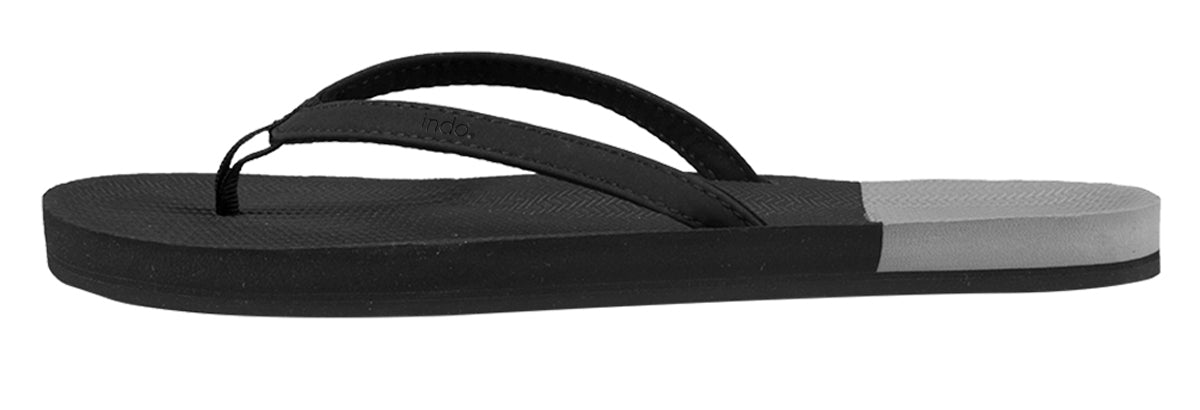 ESSNTLS Flip Flops Color Block Women — Black / Granite