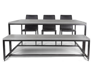City-Metal Concrete Dining Table