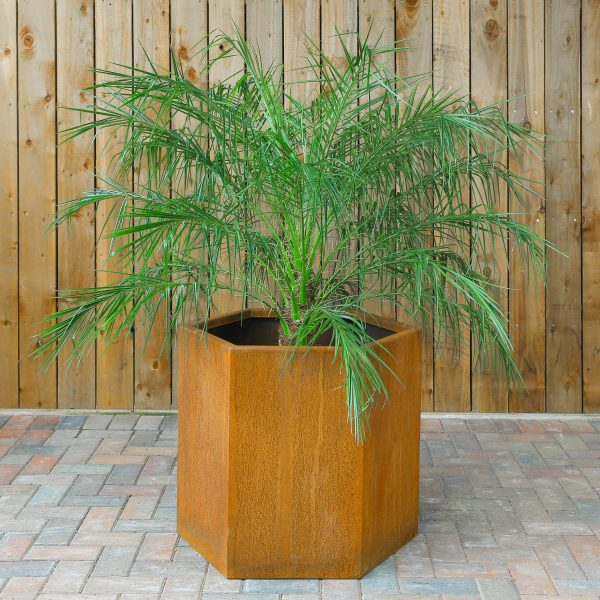 Hallaton Hexagon Corten Planter
