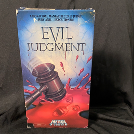 Evil Judgement (VHS) Later Tape