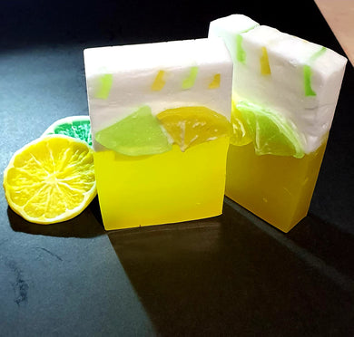 Lemon Breeze Shea Soap with Essential Oil - All Natural Soap - Basal Beauty
