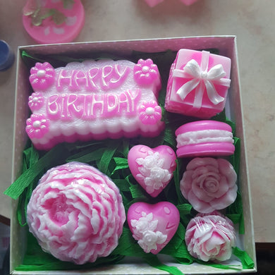 Her Birthday Soap Set II with Essential Oil, Aroma & Shea Oil for your Skincare - Basal Beauty