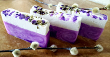 Load image into Gallery viewer, Lavender Swirl Shea Soap - All Natural Soap - Basal Beauty