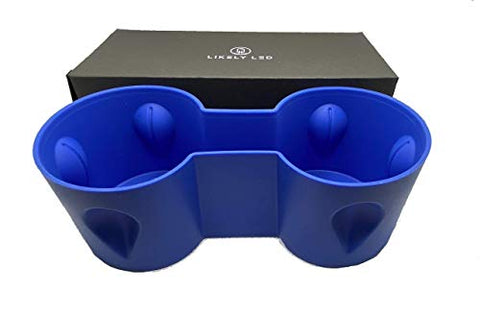 LIKELY LED Blue Tesla Model 3 and Model Y Rubber Cup Holder - Tesla Cup Insert - Drinks Stay in Place, no More Spilled Drinks, Dishwasher Safe up to 440 Degrees Fahrenheit