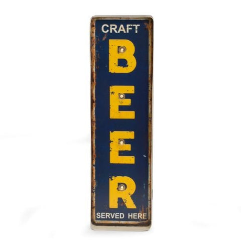 Craft Beer Metal Sign LED-Lighted