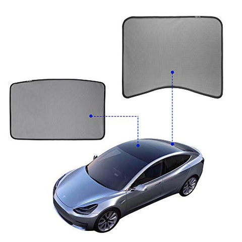 Model 3 Glass Roof Sunshade Sunroof Rear Window Sunshade Compatible for Tesla Model 3