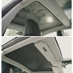 inside view Model 3 Glass Roof Sunshade Sunroof Rear Window Sunshade Compatible for Tesla Model 3