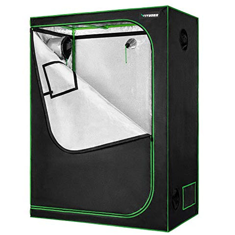 "VIVOSUN 48""x24""x60"" Mylar Hydroponic Grow Tent with Observation Window"