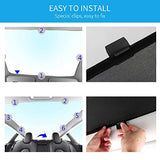 install Model 3 Glass Roof Sunshade Sunroof Rear Window Sunshade Compatible for Tesla Model 3