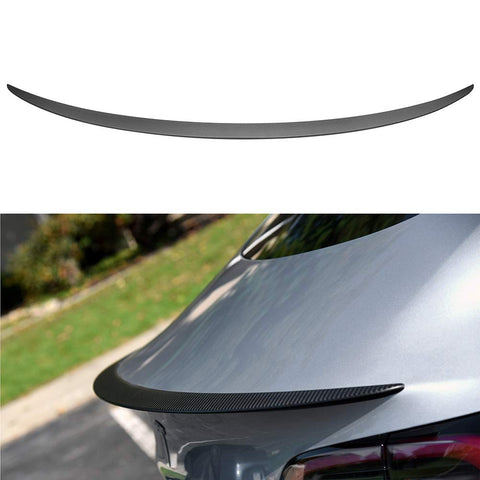 Tesla Model 3 Performance Real Carbon Fiber Spoiler Tail Wing Rear Trunk Lid Spoiler Wing Compatible Model 3 2017 2018 2019(Matt)