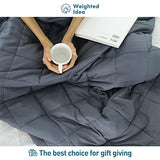 Weighted Idea Adult Weighted Blanket (60''x80'', Soft Fabric, Grey)