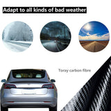 Tesla Model 3 Performance Real Carbon Fiber Tail Wing Rear Spoiler Compatible Model 3 2017 2018 2020
