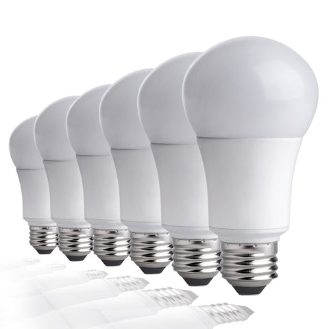 TCP LA927KND6 LED Light Bulbs 60 Watt Equivalent | Energy Efficient (9W) Non-Dimmable A19 Shape E26 medium base, 6 pack, Soft White, 6 Lamps