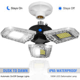Super Bright LED Garage Ceiling Lights Deformable