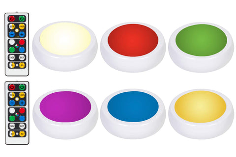 Wireless Color Changing LED Puck Lights