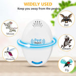 Ultrasonic Pest Repeller Plug in Pest Control - Mice Repellent & Rat Repellent in Pest Repellent - Bug Repellent for Ant,Mosquito,Mice,Flea,Fly,Spider,Roach,Rat -(6 Pack)