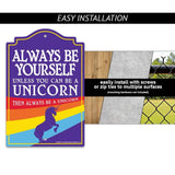 Man Cave Signs Unicorn rainbow