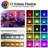Color Changing Light Bulb w/Remote Control 2-pack
