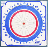Widdy Paper Dart Board w 12 Steel Tip Darts