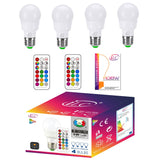 RGB LED Light Bulb, Color Changing Light Bulb Dimmable 3W E26