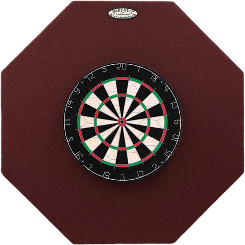 Dart-Stop 36 inch Burgundy Octagon Pro Dart Board Back Board | Wall Protector | Dartboard Surround