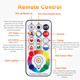 LED Light Bulbs, 10W E26/27 RGBW LED Color Changing Light Bulb with Remote Control, Dimmable & Timing