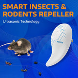 Ultrasonic Pest Repeller - 2019 New 2 Pack - Outdoor/Indoor Plug in Electronic Pest Repellent - Get Rid of Bug Mosquito Mouse Squirrel Bee Cockroach Fly Spider Rat - Safe for Human and Pet