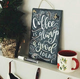 "Slate Chalkboard Sign (8""x12"") coffee"