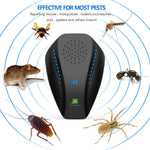 Neatmaster Dual Microchip Ultrasonic Pest Repeller Mice Control Variable Electromagnetic Insect Repellent